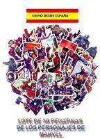 39 PEGATINAS DE SUPER HEROES MARVEL AVENGERS DECORACIÓN MOTOS BICI PATINETES POP