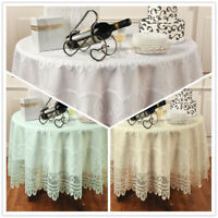 """Vintage Lace Tablecloth Floral Table Cover Wedding Party Dining Decor Round 70"""""""