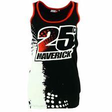 Maverick Vinales 25 Moto GP Logo Black Women's Tank Top Official New