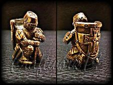 *Templar* UNIQUE HANDMADE Bronze Paracord Knife Leather Lanyard Bead / Beads