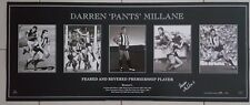 OFFICIAL COLLINGWOOD DARREN MILLANE FACSIMILE SIGNED CAREER PRINT PANTS