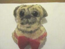 Pug Dog-Felt Handmade Brooch/Pin-Gift Idea*Hearing Dogs*