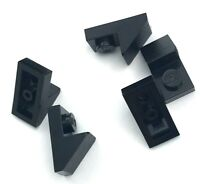 Lego 5 New Black Sloped Pieces 45 2 x 1 with 2/3 Cutouts