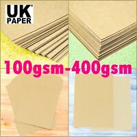 A5 A4 A3 KRAFT BROWN CARD PAPER GIFT TAG BAG LABEL BLANK SHEET 300gsm 280gsm 170