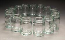 15 x kleine Gläser aus Apotheke für Cremes und Salben um 1935