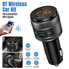 Bluetooth FM Transmitter Handsfree MP3 Player QC3.0 Radio AUX Adapter Car Kits