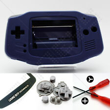 Nuevo Violeta (Indigo) Nintendo Game Boy Advance Gba caso/Shell/CARCASA y pantalla