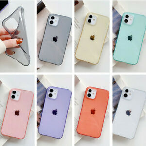 Case For iPhone 12 Pro Max 11 XS XR 7 8 X 6 Simple Clear Soft TPU Colorful Cover