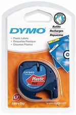 Dymo LetraTag Tape 12mm Plastic Red S0721630