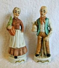 Flambro Country Man and Woman Figurines - Set of 2 - Good Condition