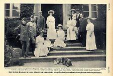 Zwei fürstliche Brautpaare im Schloss Grünholz Historical Memorabilia 1908