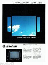 PUBLICITE ADVERTISING 116  1988  Hitachi  téléviseur  série 50 chassis numérique