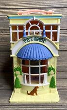Fisher Price Mattel 2001 Littlest Pet Shop Beauty Salon Doll House Yellow Pink