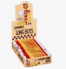 Coconut Long Boys by Atkinson's 48 Count Box 16oz Chewy Caramel Bulk Candy