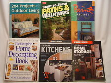 LOT OF 6 HOME IMPROVEMENT BOOKS Kitchen Patio Garden Storage Organization Paint