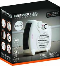 DAEWOO 2000W ELECTRIC PORTABLE UPRIGHT FAN HEATER HOME OFFICE CARAVAN WINTER