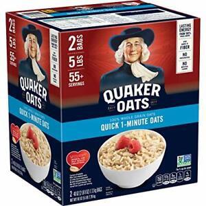 Quaker Quick Oats 1-Minute Oatmeal, Non GMO Project - 5 lbs.