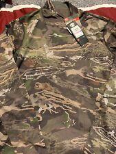 Under Armour Mid Season Reversible Wool Base Crew Shirt Forest 1297808 943 XXL