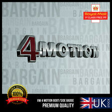 4motion Badge Emblema Audi VW 4 MOTION POSTERIORE BOOT R S LINE GOLF PASSAT POLO TIGUAN