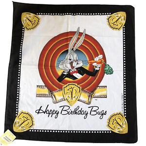 Vintage Bugs Bunny Warner Bros 50th Anniversary Bandana Happy Birthday