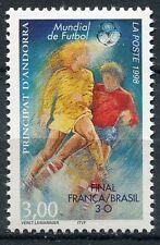 TIMBRE ANDORRE FRANCE NEUF N° 507  **  FOOTBALL FINAL FRANCE BREZIL
