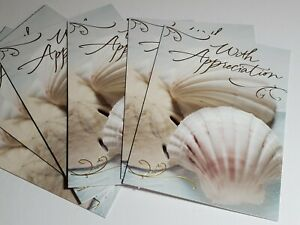 Thank You Cards Lot Of 5 With Envelopes (Beach,Sea,Ocean)