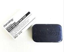 Bamboo charcoal detoxifying face body bar soap with tea tree oil green tea 100g