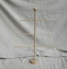 """16"""" Ornament Display Tree Christmas Holiday Raw Unfinished Wood Craft Usa Made!"""