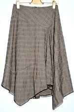 SANDWICH - Brown Viscose Mix Skirt in Pin Striped Weave- Size 38/ UK 12 - BNWOT