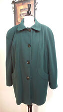 Vintage Amanda Lee Wool Blend Coat Green Women's Size 14