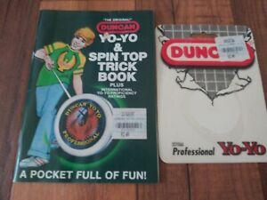 Duncan Yo-Yo & Spin Top Trick Book- 1992 Flambeau Products Corp. +1994 card back