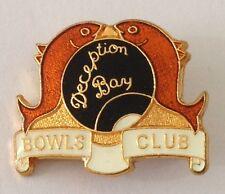 Deception Bay Queensland Bowling Club Badge Pin Vintage Fish Design (L16)
