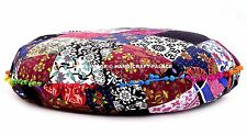 "32"" Inches Mandala Round Floor Pouf Cushion Pillow Cover Large Seating Indian"