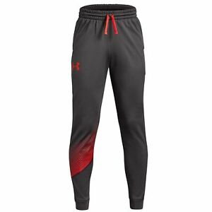 Under Armour Boys Exercise Joggers Fitness Running Pants Charcoal 1318233-019