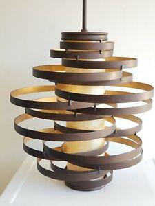 Corbett Lighting Vertigo Bronze/Gold Leaf Chandelier Pendant