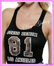 GUESS Graphic Logo  Sequin  Tank T-shirt Tee T shirt Top Blouse NWT XS,S,M,L,XL