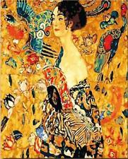 Lady with a Fan (Gustav Klimt) - Van-Go Paint-By-Number Kit