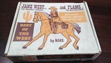 Vintage Marx Jane West & her Horse Flame w/accessories in Original Box