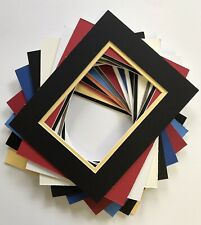 Double Mat for 11x14 Picture Frame. Holds 8x10 Photo.