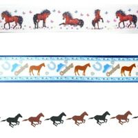HORSE ANIMAL PRINTS By the Yard Ribbon Trim for Scrapbooking & Hair Bow Making
