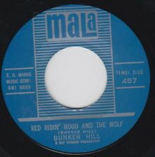 "BUNKER HILL Link Wray RED RIDIN' HOOD Mala Re. 7"" 1962 Blistering R&R R&B HEAR"