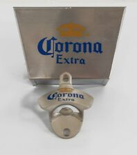 Corona Wall Mounted Bottle Opener & Cap Catcher Bin Holder + Screws - Beer Bar