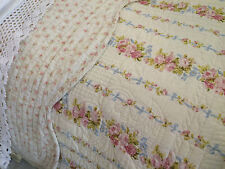 SHABBY CHIC DITSY FLORAL SUPER KING SIZE PATCHWORK QUILT 100% COTTON REVERSIBLE