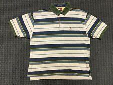 Vintage 1990's Tommy Hilfiger Multicolor Striped Collared Polo Men Size XL