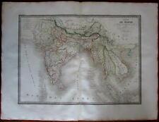 Southeast Asia Siam Laos Hindoostan India Anam Burma 1829 Lapie fine antique map