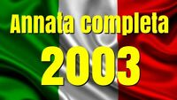 2003  ANNATA COMPLETA N° 62 TESSERE FILATELICHE INTROVABILI