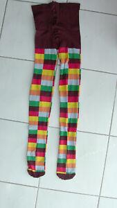 Collants épais à damiers multicolores Taille S