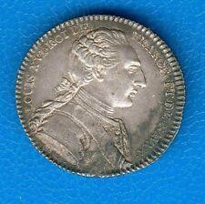 joli  Jeton argent Louis XVI académie françoise