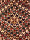 Rose Patterned 1970s Vintage 5.1x6 ft  Wool On Wool Ersari Rug