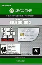 Grand theft auto 5 en ligne gta v shark cash card $2.5 millions de xbox one